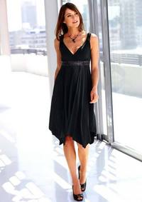 Dress with sequines, black