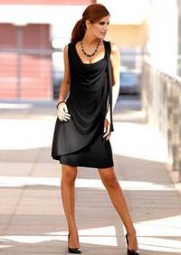 Dress with plaid, black