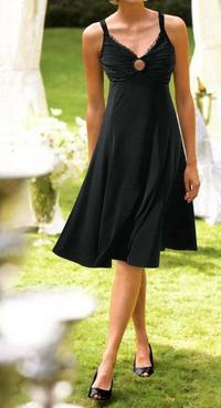 Designer dress, black