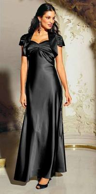 Evening gown with bolero, black